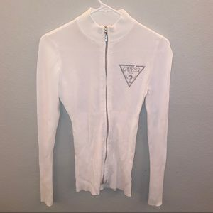 Guess White Long Sleeve